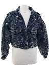 Womens Totally 80s Style Denim Jacket