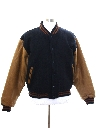 Mens Brooks Brothers Wool Letterman Style Jacket