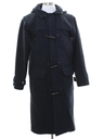 Mens Mod Wool Nautical Overcoat Jacket