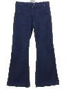 Unisex Navy Denim Bellbottoms Jeans Pants