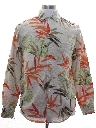 Mens Linen Hawaiian Style Shirt