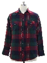 Mens Lumberjack Plaid Flannel Western Shirt