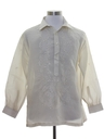 Mens Sheer Poet Style Hippie Shirt