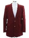Mens Ron Burgundy Style Disco Blazer Style Sport Coat Jacket