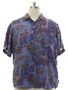 Mens Totally 80s Silk Graphic Print Sport Shirt