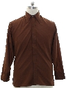 Mens Designer Pierre Cardin Solid Disco Shirt