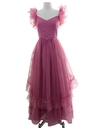 Womens Totally 80s Pretty in Pink Maxi Prom Dress