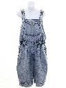 Womens Totally 80s Acid Washed Denim Jumper Overalls