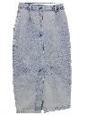 Womens Totally 80s Acid Washed Denim Skirt