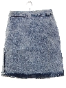 Womens Totally 80s Acid Washed Bongo Denim Skirt