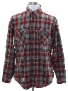 Mens Levis Flannel Western Style Shirt