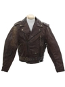 Mens Grunge Motorcycle Leather Jacket