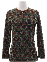 Womens Mod Knit Brady Bunch Style Shirt