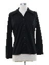 Womens Black Solid Disco Shirt