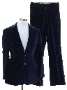 Mens Velveteen Disco Suit