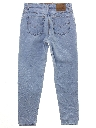 Womens Stone Washed High Waist Levis Jeans Pants