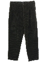 Mens Totally 80s Corduroy Pleated Pants