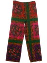 Womens Mod Hippie Pow-Flower Pants