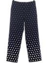 Womens Mod Op-Art Polka Dot Print Pants*