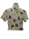 Mens Cropped Print Disco Shirt