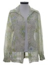 Womens Sheer Shirt Jacket
