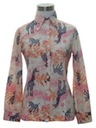 Womens or Girls Print Disco Style Shirt