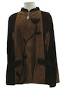 Womens Suede Leather Hippie Poncho Jacket