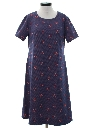 Womens Print Knit A-Line Dress